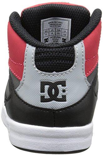 DC Shoes Rebound Ul, Baskets mode bébé fille Multicolore (Black/Grey/Red)