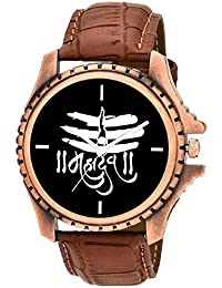 On Time Octus Mahadev Black Dial Analog Watch For Boys And Men-MH-Black-13
