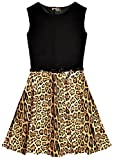 Search : New Girls Leopard Print Skater Dress with Belt Age Size 5 6 7 8 9 10 11 12 13 Years