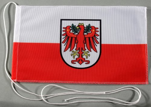 Tirol Österreich 15x25 cm Tischflagge in Profi - Qualität Tischfahne Autoflagge Bootsflagge Motorradflagge Mopedflagge
