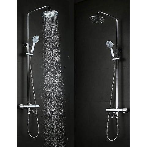 In generale la moda contemporanea da parete tipo ottone cromato 38 ? Smart Bagno termostatico doccia Set rubinetti -