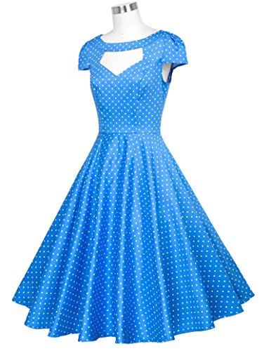 Belle Poque 50s Vintage Retro Rockabilly Kleid Sommerkleid Petticoat Kleid GD000008 BP008-12