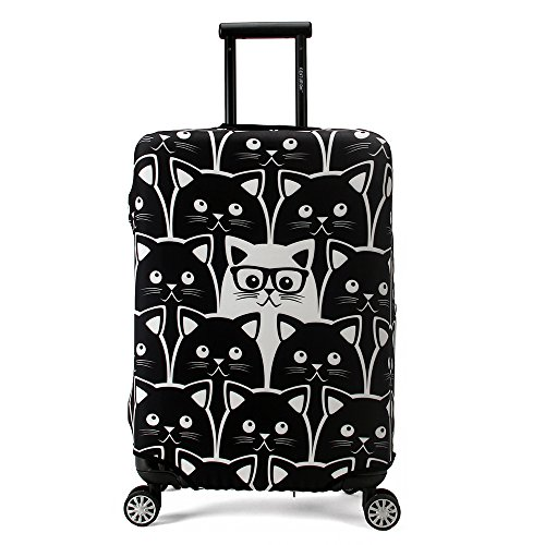 Maddy's Home Elastica Suitcase Cover Proteggi bagagli luggage Cover,Pop Gatto (L (Fit 26'-28' suitcase))