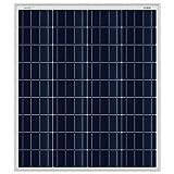 Offgridtec® 80 Watt 12V polykristalline Solarzelle Wohnwagen Garten Solarpanel