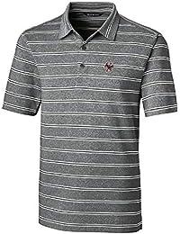 703c2fd577098 Cutter   Buck Men s Short Sleeve Heather Stripe Forge Polo Black