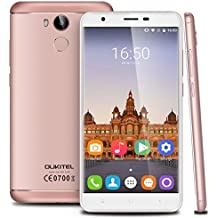 "OUKITEL U15 Pro - 4G Lte Smartphone Libre Android 6.0 (Pantalla HD 5.5"", Dual SIM, Octa Core 1.3GHz MT6753, 3Gb Ram, 32Gb, 13MP Cámara, GPS, WIFI, Huella Dactilar, OTG) (Rosa Dorado)"