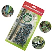 Moraphee 31-in-1 Gardening Plant Support Clips for Grafting Stem, Liana Vines, Stalks, Flower Beds, Vegetable etc, One Set Includes 12pcs plant Binder, 18pcs Clips, 1Roll of 20M Twist Wire