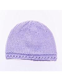 Bonnet de Naissance Bébé Fille en Coton Fait Main - Nouveau-né Violet 854e842a14b