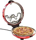 Rosenstein & Söhne Pizzastein: Pizza-Maker mit Timer und Steinofenplatte, für Pizza mit Ø 29 cm (Brotbackautomat)