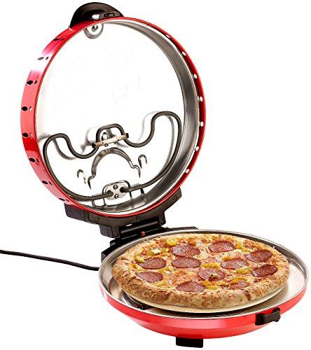 Rosenstein & Söhne Pizzamaker: Pizza-Maker mit Timer und Steinofenplatte, für Pizza mit Ø 29 cm (Brotbackautomat)