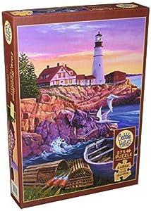 Cobblehill 88008 XL 275 Piezas Lighthouse Cove Puzzle, Varios