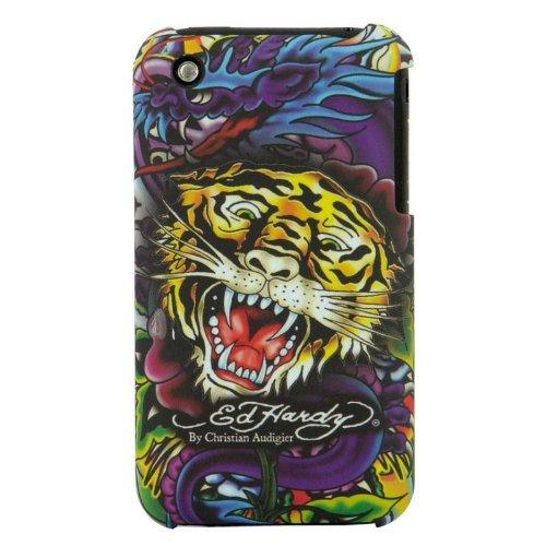 Ed Hardy Faceplate Tiger iPhone 3G Black (Ed Black Tiger Hardy)