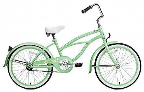 Micargi Jetta, Mint Green - Girls' 20 Beach Cruiser Bike by Micargi