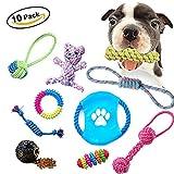 10 Pacchetti di Giocattoli della Corda del Cucciolo di Masticazione del cane Assortimento per Piccole,Medie e Larghe Razze di Taglia
