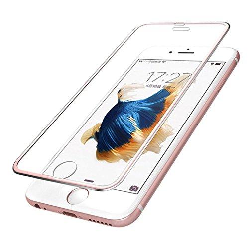 IPhone 6 Plus Panzerglas Schutzfolie,Gusspower 3D Touch Vollständig gebogene gehärtetes Glas Display Schutz Metallrand zum Rand für iPhone 6s Plus Film 5,5 Zoll (Rose Gold)
