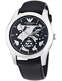 Emporio Armani Herren-Armbanduhr XL Analog Automatik Leder AR4673