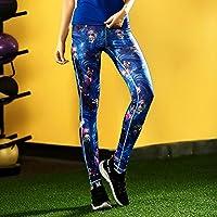 JIALELE Pantalon Yoga Deportes Pantalones De Yoga Deportes Pantalones De  Yoga Altura Reparación Video Pop Delgado 853fffe9c87d