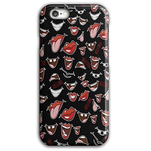 Lippen Traurig Lachen Wellcoda Rot Lippe iPhone 6 Plus / 6S Plus Hülle | Wellcoda