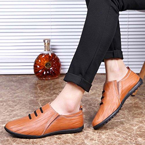 ZXCV Chaussures de plein air Chaussures plates pour hommes ( Couleur : Marron clair , taille : 41 ) Reddish brown