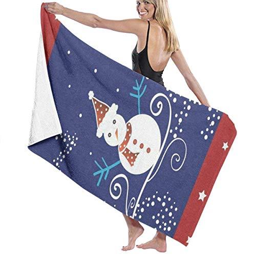 xcvgcxcvasda Serviette de bain, Christmas Snowman and Stars Personalized Custom Women Men Quick Dry Lightweight Beach & Bath Blanket Great for Beach Trips, Pool, Swimming and Camping 31
