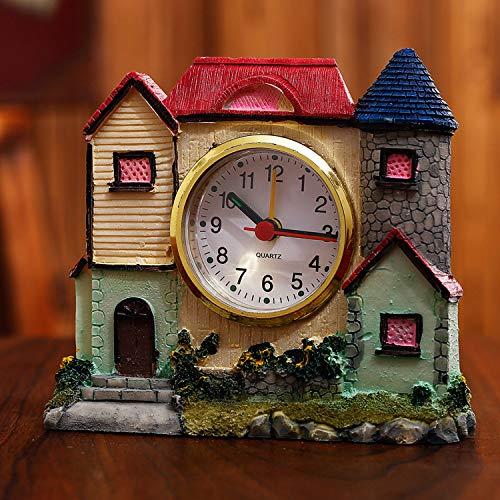 XUEQQ wecker Kreative Burg Wecker Kinder Geschenk Villa kreativ Alarm Lock Schüler Spaß am Krankenbett Uhr Desktop-Heimtextilien (Antike Kinder Wecker)