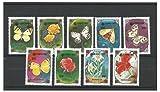 Briefmarken für Sammler - 1991 Schmetterlinge und Blumen Expo 90 Überdrucken Postfrisch stempel-satz / Mongolei SG2289 - 2297