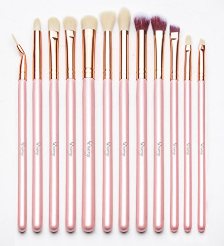 qivange-eye-brushes-set-makeup-brush-kit-with-pouch-12pcs-pink-with-rose-gold