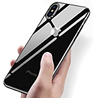 Funda iPhone X, Vitutech Cover iPhone X TPU Carcasa Silicona Anti-Rasguño Shock-Absorción Bumper Completo Case Cover para iPhone X Protectora Funda - Transparente