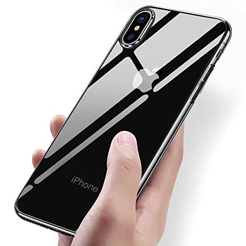 Soft-silikon-hülle (iPhone X Handyhülle, Vitutech Crystal iPhone X Silikon Hülle TPU Bumper Case Premium Kratzfest Ultra Dünn Anti-Shock Weich Schutzhülle für iPhone X Case Cover - Transparent)