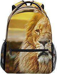 Preisvergleich für COOSUN Lion Portrait zufällige Rucksack Schultasche Reise Daypack Lion Portrait