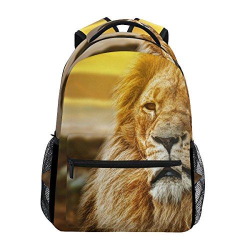 COOSUN Lion Portrait zufällige Rucksack Schultasche Reise Daypack Lion Portrait