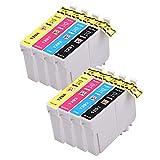 PerfectPrint Kompatibel Tinte Patrone Ersetzen für Epson Stylus Office B42WD BX305F BX305FW BX305FW Plus BX320FW BX525WD BX535WD BX625FWD BX630FW BX635FWD T1295 (Schwarz/Cyan/Magenta/Gelb, 8-pack)