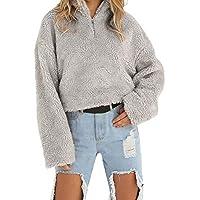 OdeJoy Frau Winter Warm Halten Wolle Mantel Reißverschluss Baumwolle Outwear Lange Ärmel Coat Casual Lose Oberteile... preisvergleich bei billige-tabletten.eu