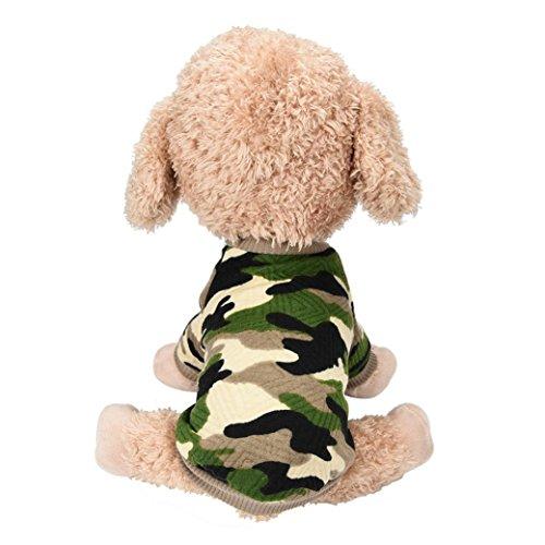 Artistic9 TM kleine Haustier Kleidung, Mode Tarnung Bekleidung Haustier Welpe Hund Katze Warme Weste, T-Shirt (Fleece-weste Bulldog)