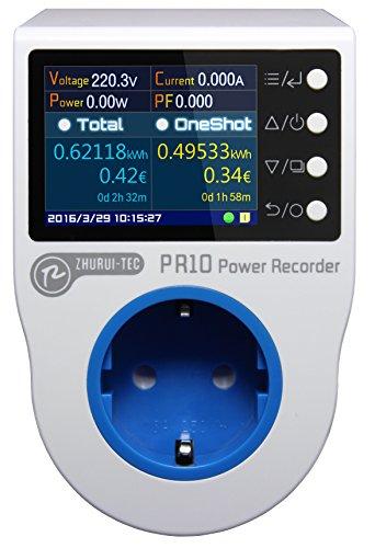 PR10-C EU16A home power metering socket/hogar medidor de energía/potencia/grabadora de medidores de...