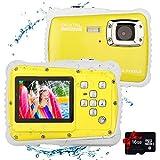 Kids Waterproof Camera Digital Camera for 4-10 Years Old Children, 12MP HD Underwater