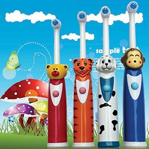 inkint Ultraschall Kinder Elektrische Zahnbürste ABS+Silikon Wasserdicht Kids Zahnpflege Universal Cartoon Massage Elektrische Zahnbürste für Erwachsen/Kinder