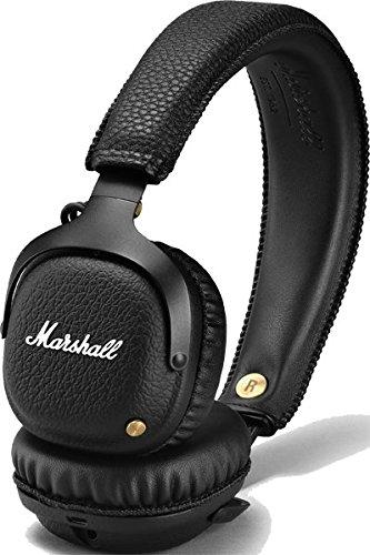 Marshall Mid - Auriculares con Diadema (Bluetooth 4.0, 40 mm, Dynamic, 30 Horas, 2 micrófonos), Color Negro