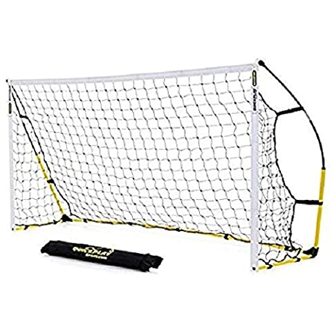 Kickster 2 Pack 8x5ft (2.4x1.5M) Durable Lightweight Portable Football Goal with Easy-to-Carry Shoulder Strapped Bag