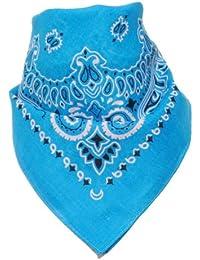 Bandana avec Motif Paisley turquoise