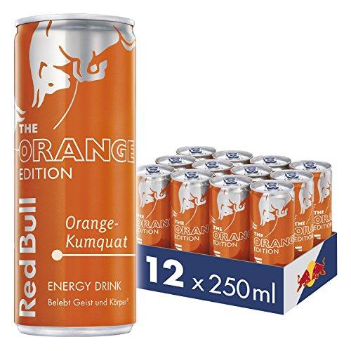 Red Bull Energy Drink Orange-Kumquat Dosen Getränke Orange Edition 12er Palette, EINWEG (12 x 250 ml) - Editionen Neue