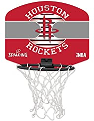 Spalding NBA Miniboard Houston Rockets 77-663Z Minicanasta, Unisex, Multicolor, Talla Única