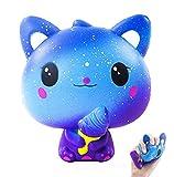 Squishy Chat, Anti Stress Squishy Jumbo Jouet Glace Kawaii de Galaxy Pas Cher Slow Rising Toy d'Animal Cadeau d'Anniversaire pour Enfant, Adulte Anti Pression Squeeze Toy …