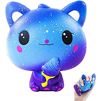 Blesser Squishy Kawaii Mignon Chat Glace Anti Stress