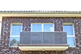 Smart Deko Antracite per balcone, per balcone,??, protezione della privacy e protezione UV per balcone, giardino, camping e il tempo libero, Anthrazit, 400x90cm