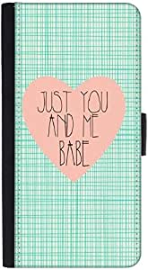 Snoogg Just You And Me Babedesigner Protective Flip Case Cover For Htc M7