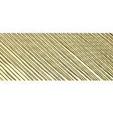 bastelkoerble® Verzierwachs - Wachsstreifen Gold flach glänzend 200 x 1 mm 30 Stück