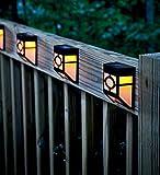 KEEDA Solar-Gartenzaun-Lichter, Solar-Rinnenlicht, Bewegungsmelder, Nachtlicht, solarbetriebene Lichter, für den Außenbereich, Gartenzaun, Warm Lights, 2er-Pack 2.0volts