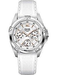 Pulsar Damen-Armbanduhr XS Sport Analog Quarz Leder PP6157X1