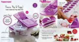 Tupperware Pop Out Plastic Ice Tray Set,...